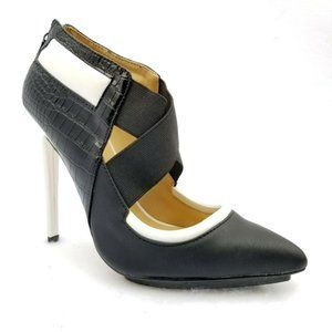 "GX by Gwen Stefani Booties 8.5 Black White 5"" Heel"